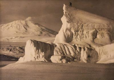 Herbert G. Ponting. Mount Erebus and Iceberg, Antarctica.