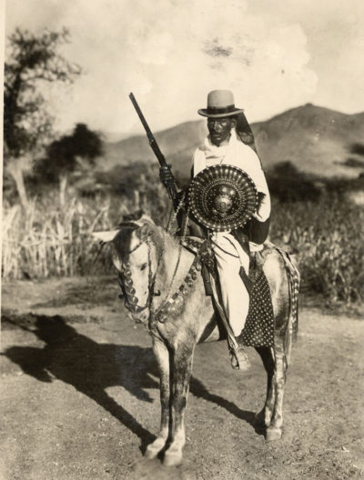 Photographer unidentified. Warrior, Ethiopia.