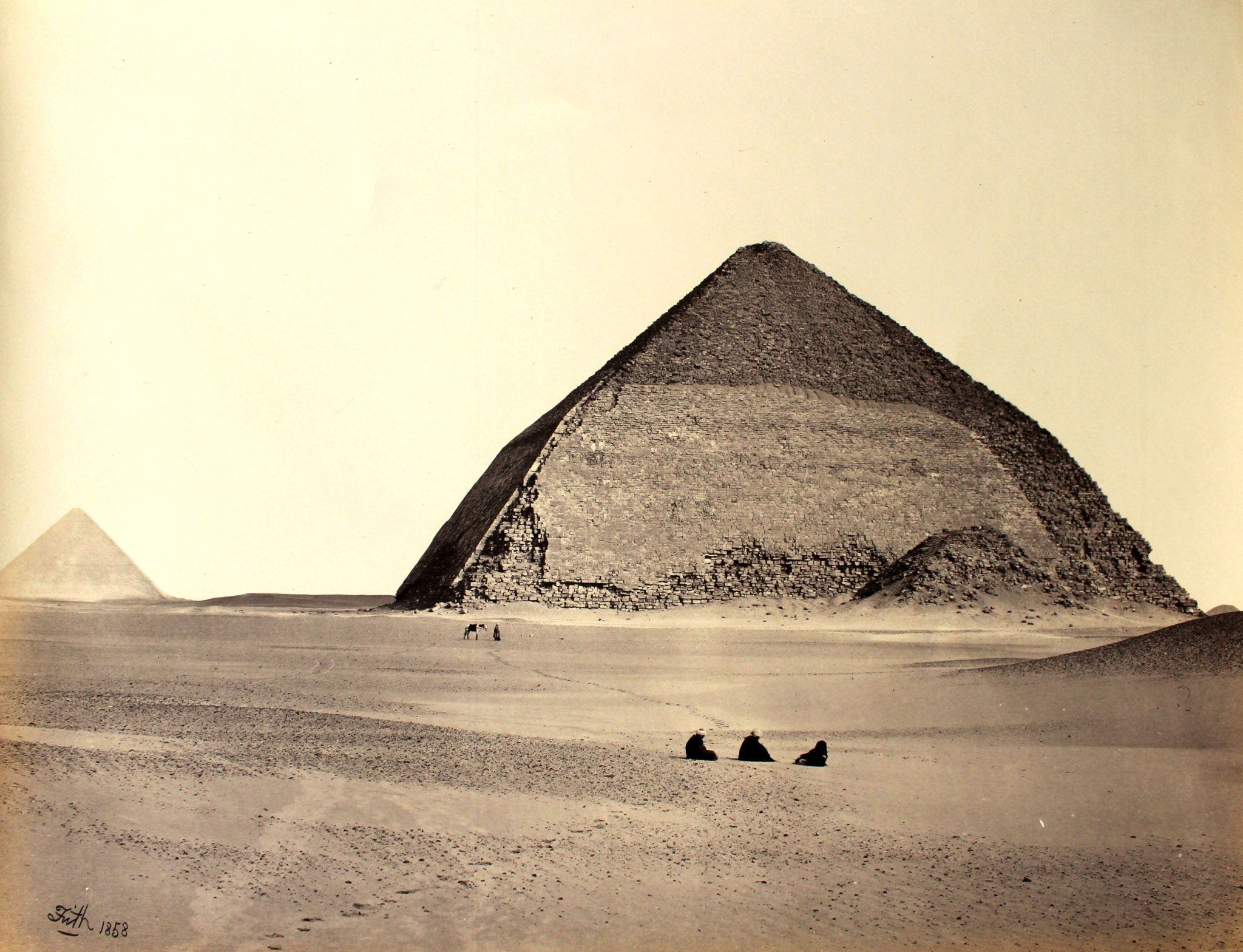 Francis Frith. The Pyramids of Dahshur, Egypt. c.1858.