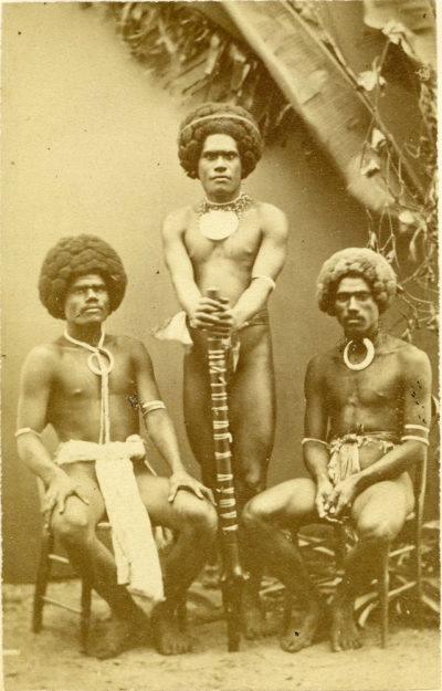 Photographer: DUFTY, Francis Herbert. Title: Fiji Islanders. Dimensions: CDV Format.