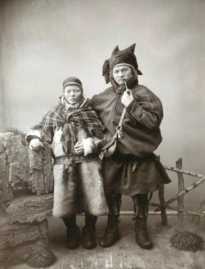 Eneret A. Kalland. Lapp Couple, Norway.