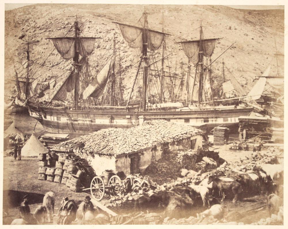 Roger Fenton. Harbour of Balaklava, The Cattle Pier, Crimea. c.1855. SOLD